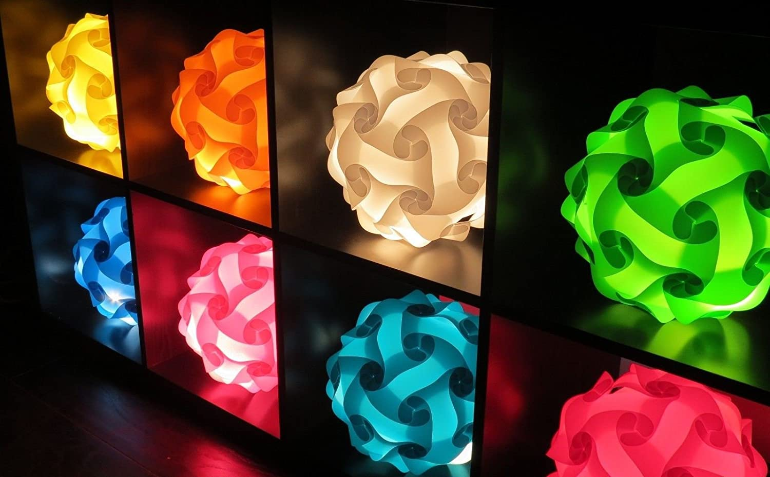 Amazon white floor lamps lamps shades tools - Infinity Lights Puzzle Light White Modern Lamp Shade X Large Amazon Com