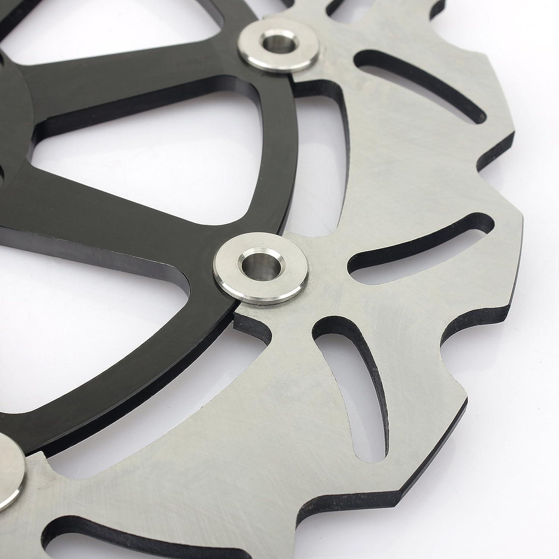 TARAZON 3x Rotores Discos de Freno Delantero y Trasero Kit para Aprilia RSV 1000 R RR RSV4 Factory Tuono V4 R