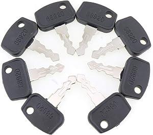 YQ 8PCS 68920 PL501-68920 Ignition Key for Kubota RTV UTV B BX F GR ZD RTV500 RTV900 BX2350D BX2360 BX2370 BX2660 F2680 F2690 F2880 F3080 F3680 ZD331P ZD331RP ZG222