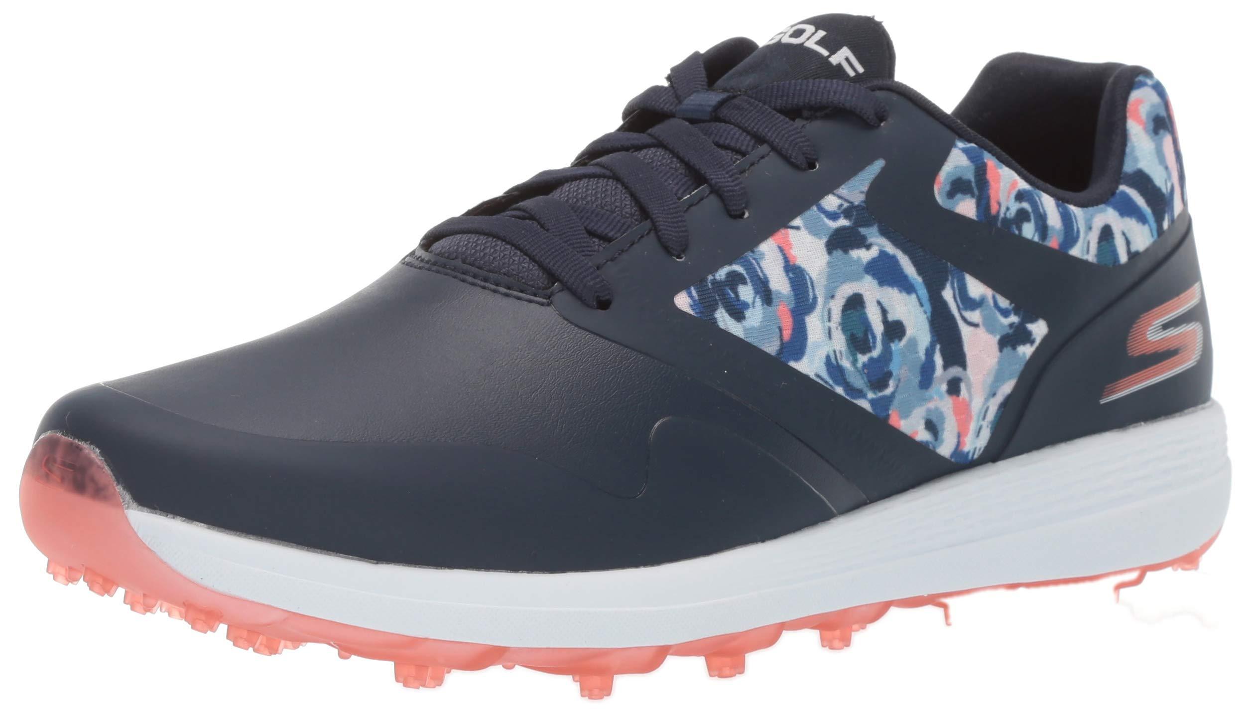 Skechers Women's Max Golf Shoe, Navy/Multi 5.5 M US