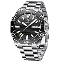 Bersigar Men's Automatic Watches with Waterproof and Durable Stainless Steel with Date