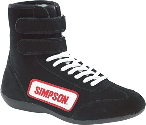 Simpson Racing Shoes >> Simpson Racing 28120bk The Hightop Black Size 12 Sfi Approved Driving Shoes