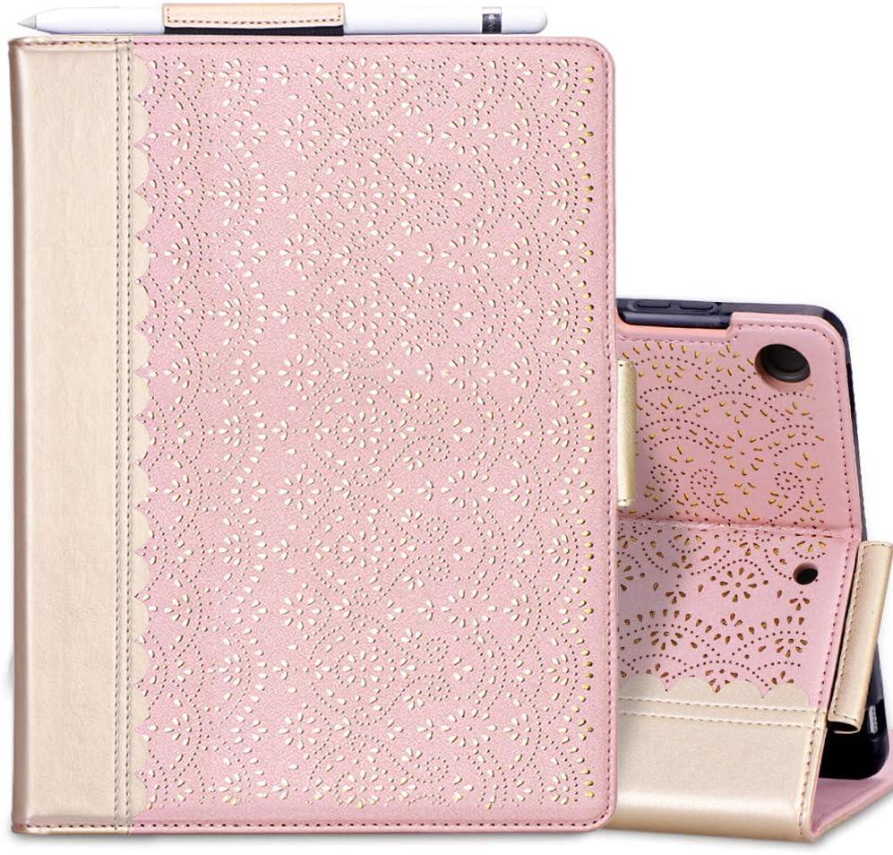 CaseFun Coque pour iPad 10.2 2019 Housse Etui de Protection en Cuir PU Case Cover Magn/étique avec Auto r/éveil//Sommeil Chouette Blanche