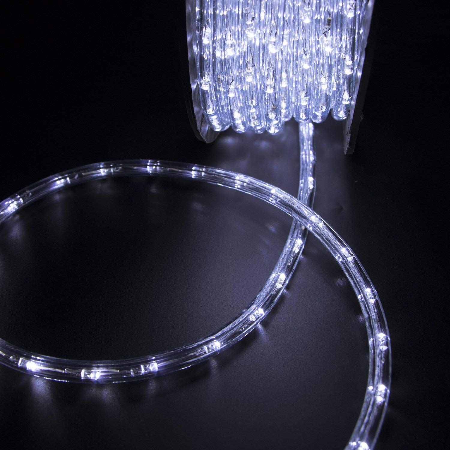 Ainfox LED Rope Light, 150Ft 1620 LEDs Indoor Outdoor Waterproof LED Strip Lights Decorative Lighting (150FT Cold White) by Ainfox (Image #8)