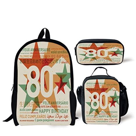 Amazon School Lunch Pen Bags80th Birthday Decorations80 Years