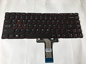 Laptop Replacement of New US Black Keyboard Fit Lenovo Y40-70 P/N:PK1314P1A00 25215834 25-215834 25215864,Without Frame