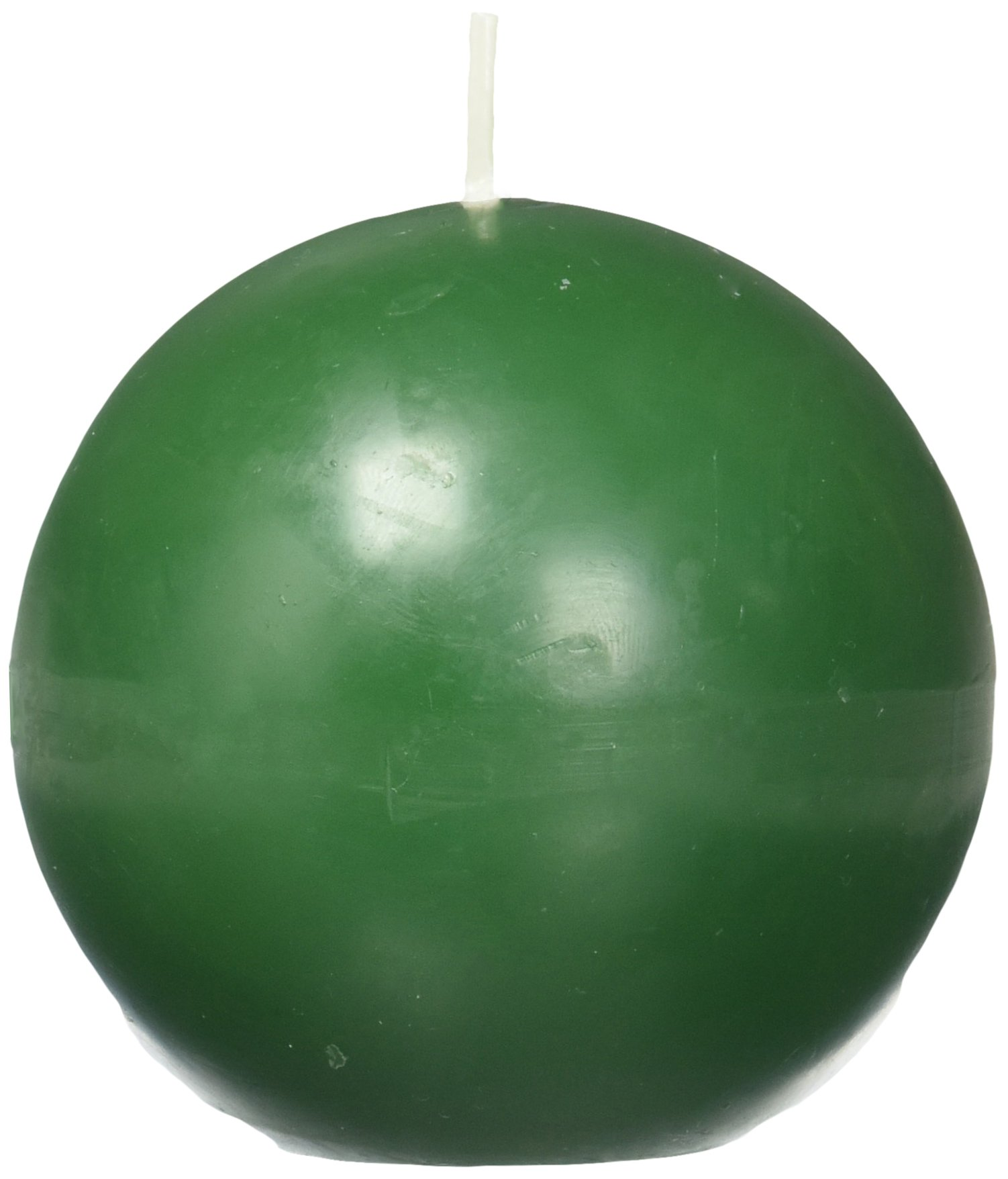Zest Candle 6-Piece Ball Candles, 3-Inch, Hunter Green by Zest Candle