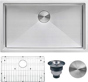 Ruvati 33-inch Undermount 16 Gauge Tight Radius Large Kitchen Sink Stainless Steel Single Bowl - RVH7433