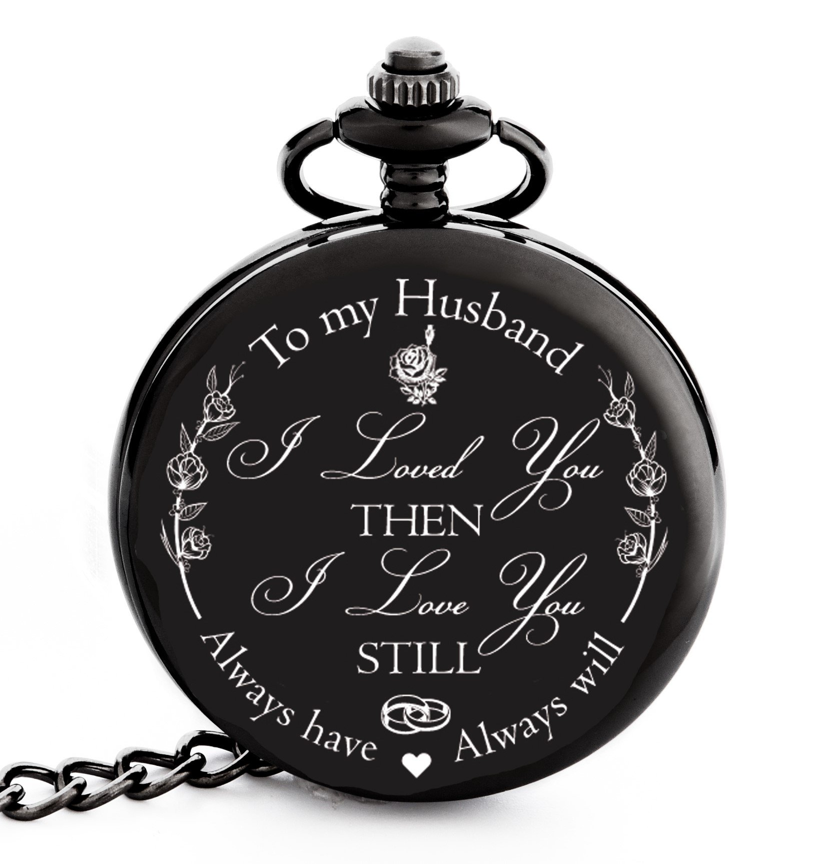 Christmas Gifts For Men South Africa: Pocket Watch Engraved To My Husband Anniversary Gift For