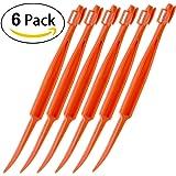 6PCS Easy Orange Citrus Peeler in Bright Orange Color Kitchen Tool