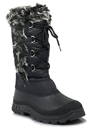 Amazon.com | BergIce Women's Snow Boots Water Resistant with Fur ...