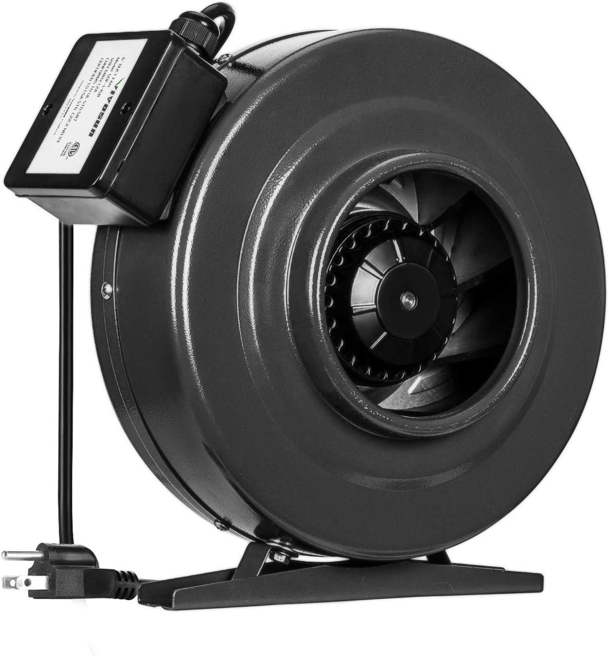 VIVOSUN 6 Inch 440 CFM Inline Duct Fan Vent Blower Ventilation Fan for Grow Tent ETL Certified