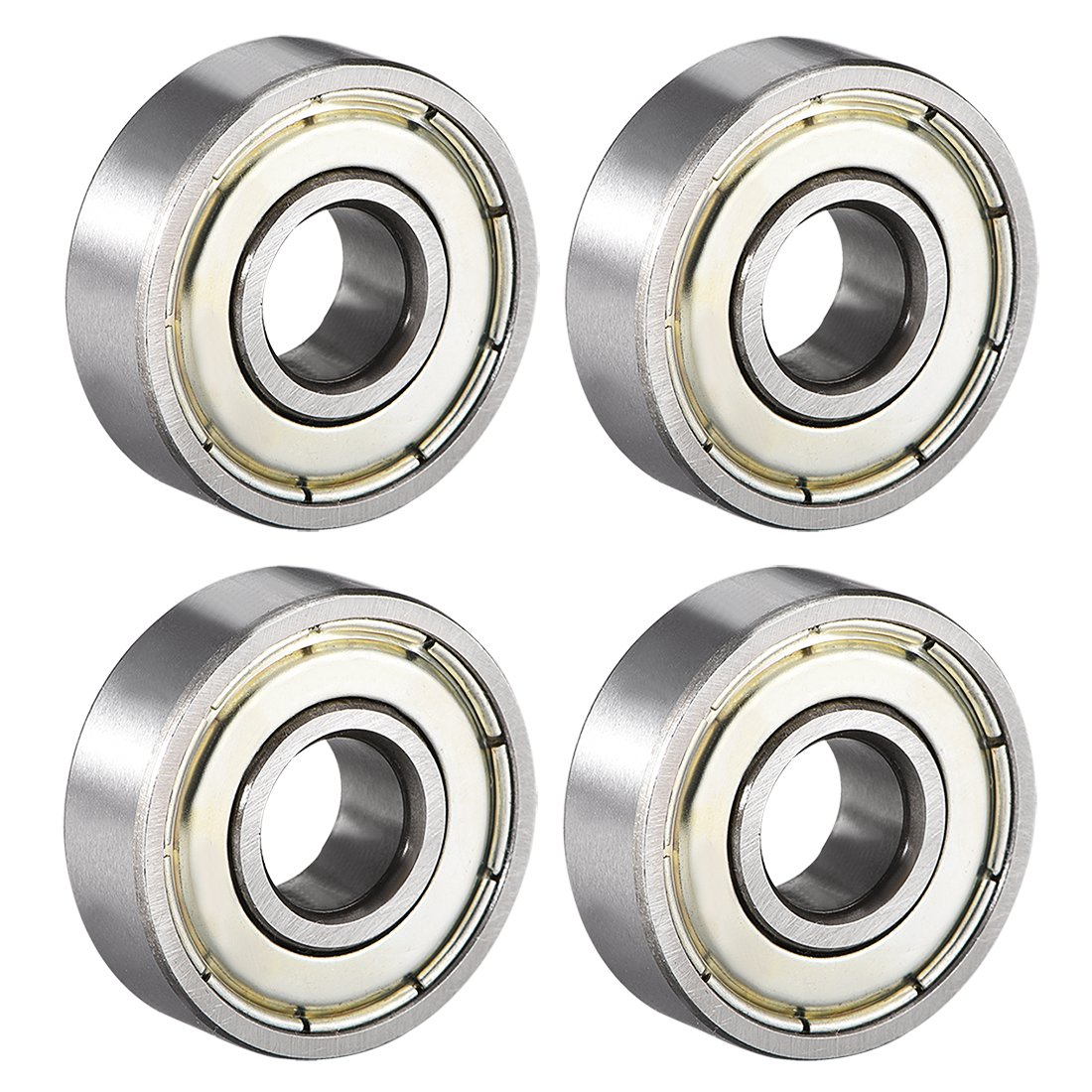 Pack of 20 uxcell 607ZZ Deep Groove Ball Bearing Double Shield 607-2Z 80017 7mm x 19mm x 6mm High Carbon Steel Z1 Bearings