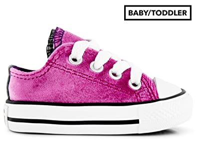 Converse Kids Chuck Taylor All Star Velvet Double Tongue - Ox  Infant Toddler Pink Sapphire 156698dc18f