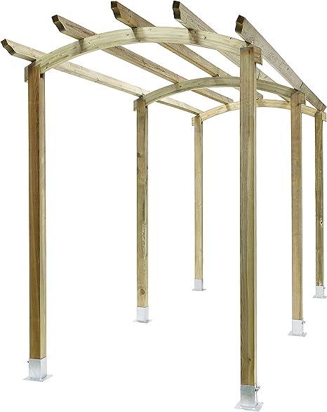 Classic arco Pergola pasarela estructura de madera de jardín ...