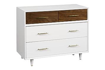 Amazon Com Babyletto Eero 4 Drawerembled Dresser White Natural Walnut Baby