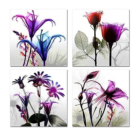 Amazon.com: Púrpura Verbena Art 12 x 12 inch 4 piezas Multi ...