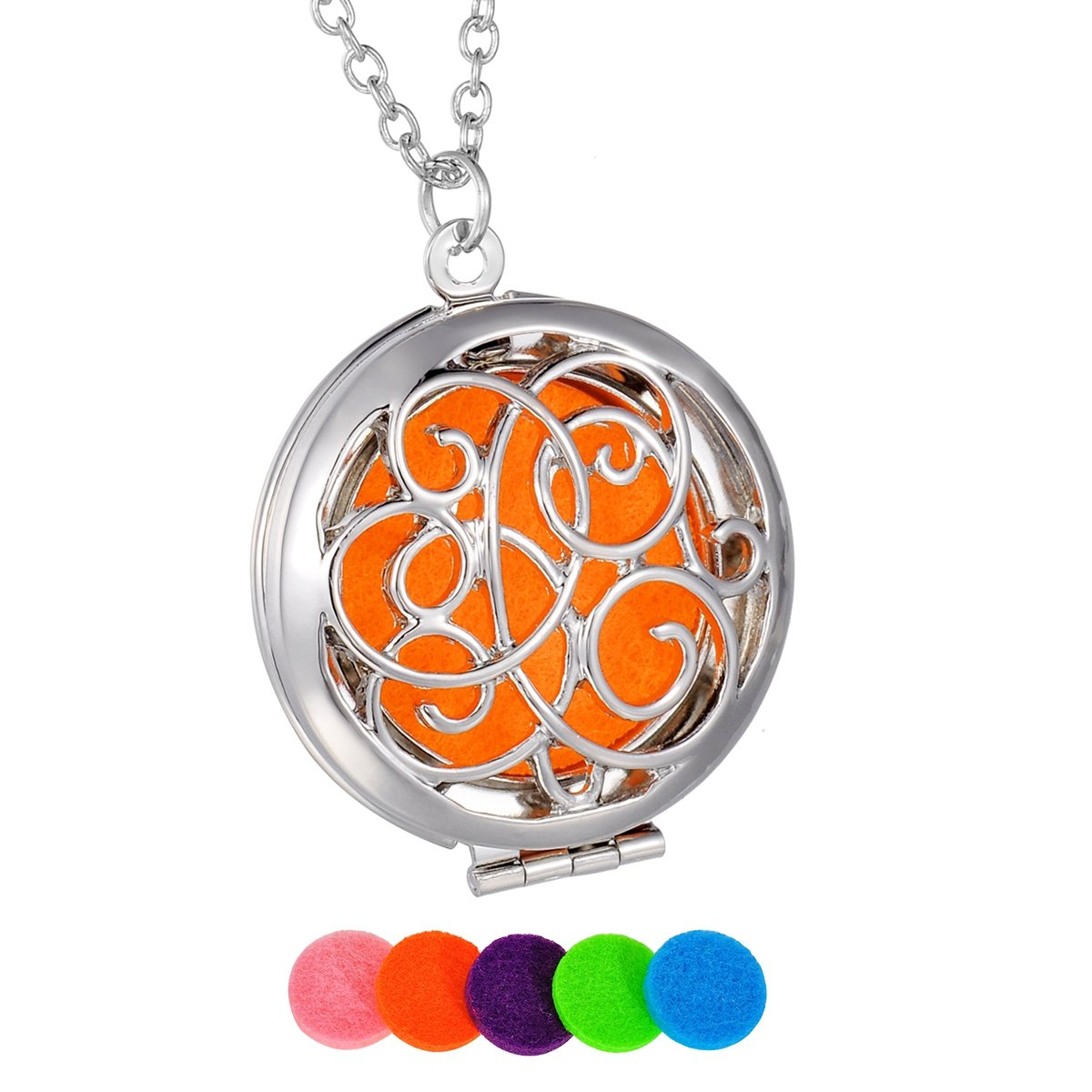 HooAMI Vine Aromatherapy Essential Oil Diffuser Necklace Pendant Magical Box Locket Jewelry