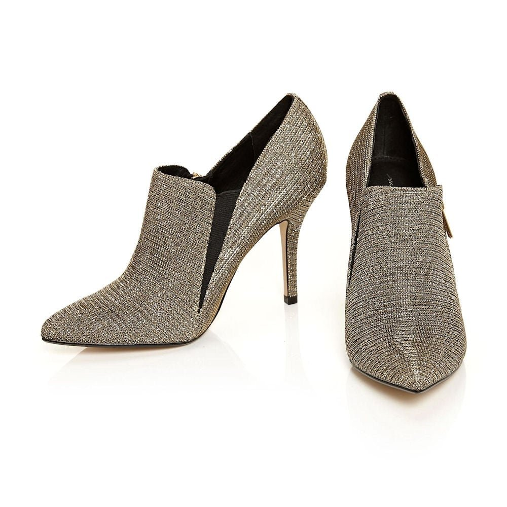 Moda in Pelle kromptal Damen Elegante Absatz Schuh Stiefel – – – Gold cd3fde