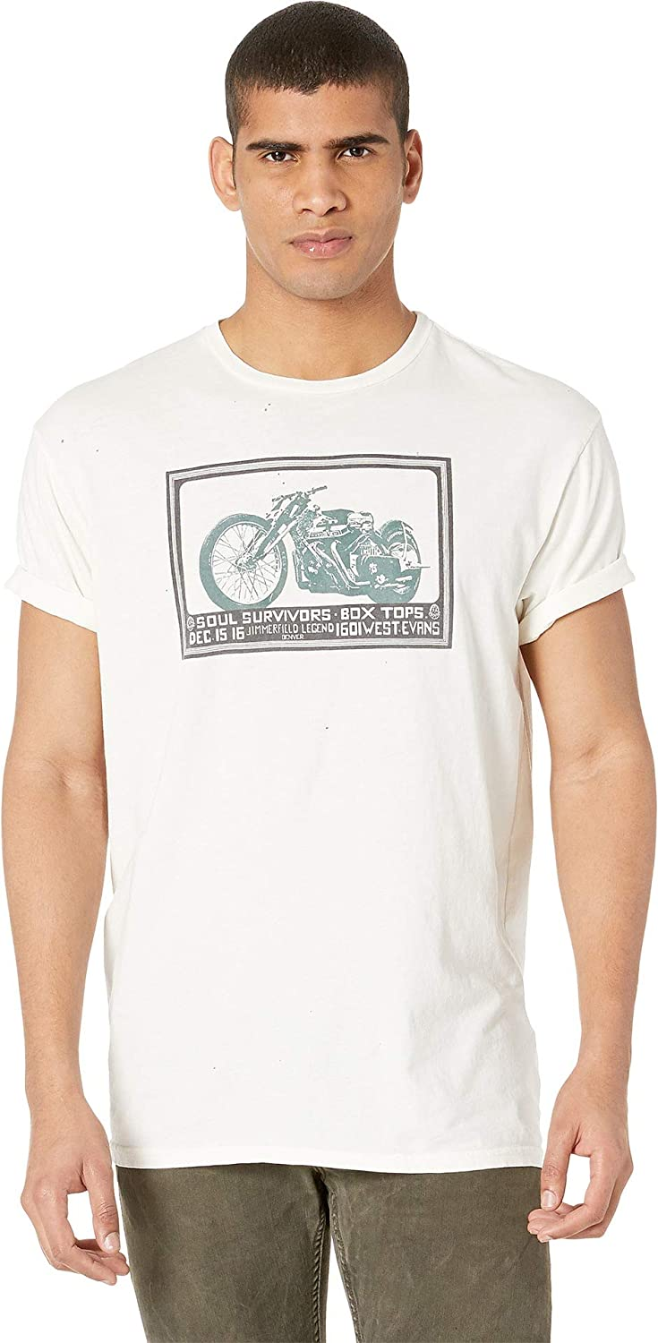 Original Retro Brand The Mens Black Label Vintage Family Dog Motorcycle Distressed Tee