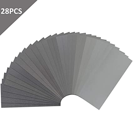 42 Pieces,Sand Paper for Automotive Sanding 120 to 3000 Grit Sandpaper Assortment Dry// Wet 9 x 3.6 Inch Wood Furniture Finishing and Wood Turning Finishing
