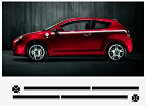 Alfa Romeo Mito decal side decal set 2 pcs. L+R (white)
