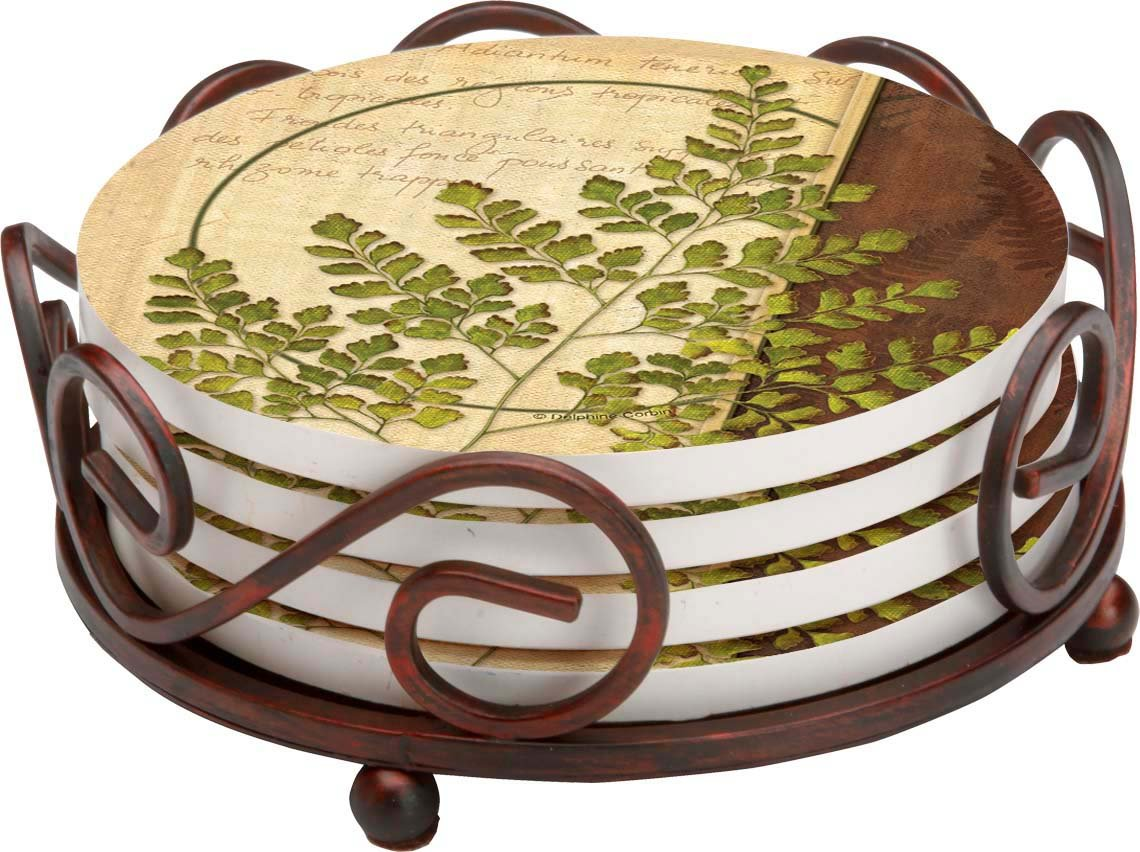 Ferns IV HA60 Gift Set Thirstystone Stoneware Coaster Set