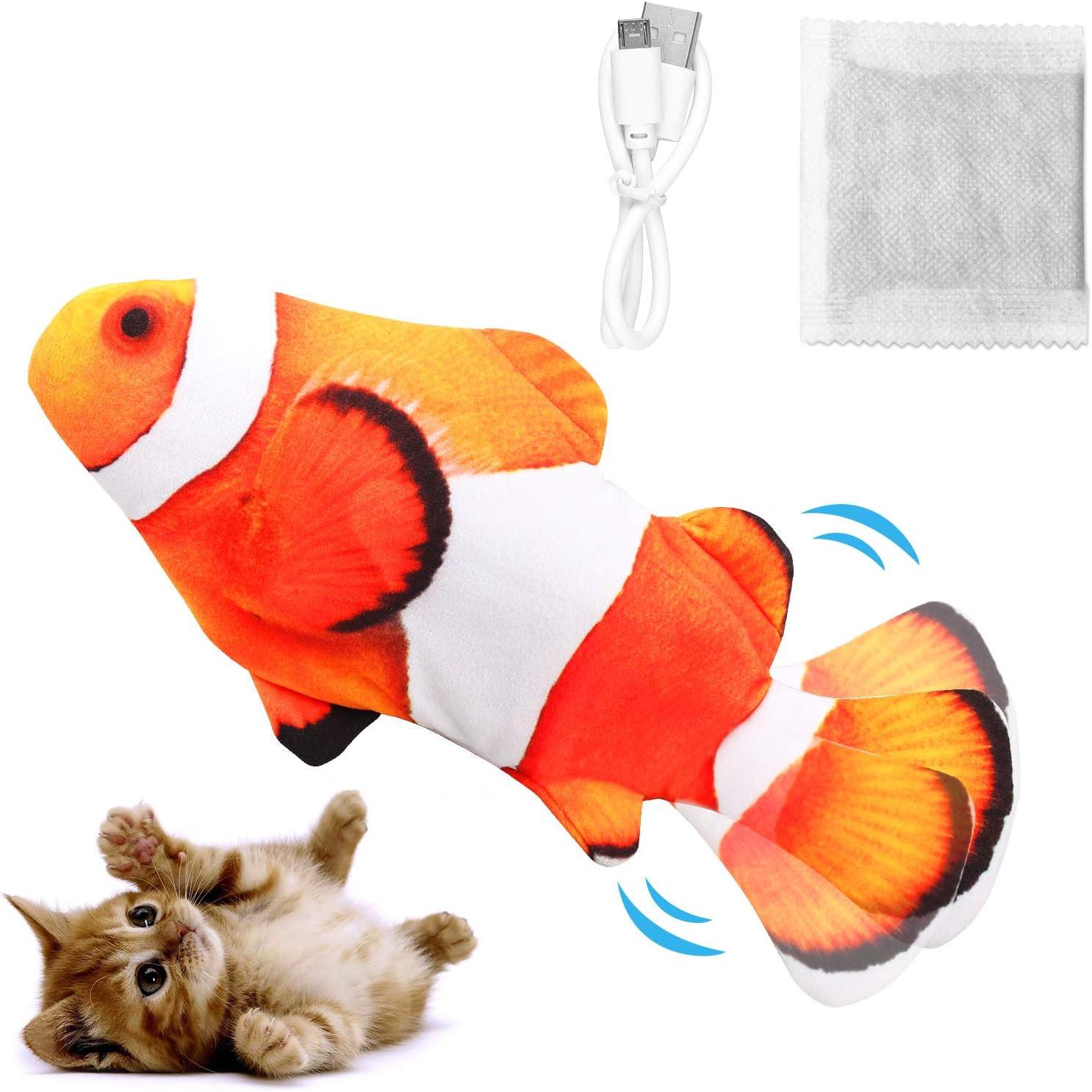 Dyroe Katzenspielzeug Elektrische Fische