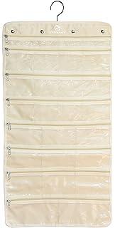 Hanging Jewelry Organizer White 37 Pockets Bedroom Closet Accessory