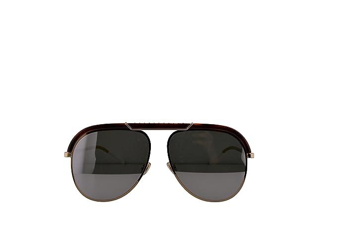 ab2e4803a0 Amazon.com: Christian Dior DiorDesertic Sunglasses Havana Gold w/Grey  Silver Mirror Lens 58mm 2IK0T Dior Desertic: Clothing