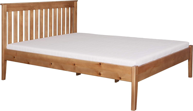mirjan24 Madera cama Gres con somier, pino, madera maciza ...