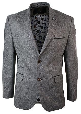 c3e98de80683 Mens Light Brown Herringbone Tweed Vintage Slim Fit Blazer Smart Casual  Jacket: Amazon.co.uk: Clothing