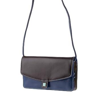 750522f9a2 DUDU Petit Sac à bandoulière pour Femme en Cuir Véritable coloré  Rectangulaire avec Rabat et Fermeture