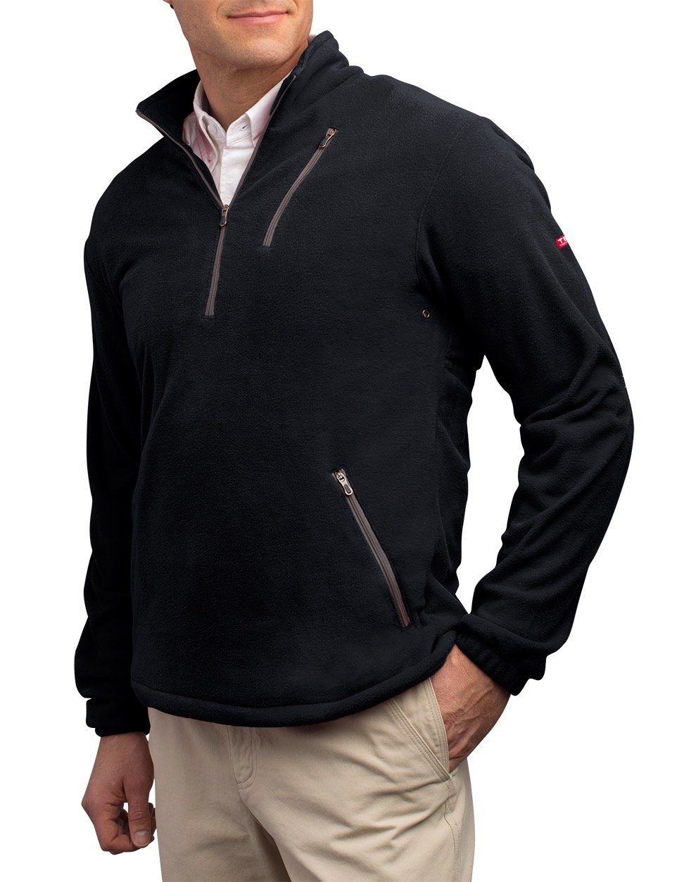 SCOTTeVEST Microfleece Pullover - 8 Pockets – Comfortable Travel Clothing BLK 2XL