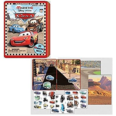 DISNEY'S CARS Travel Magnetic Tin: Toys & Games