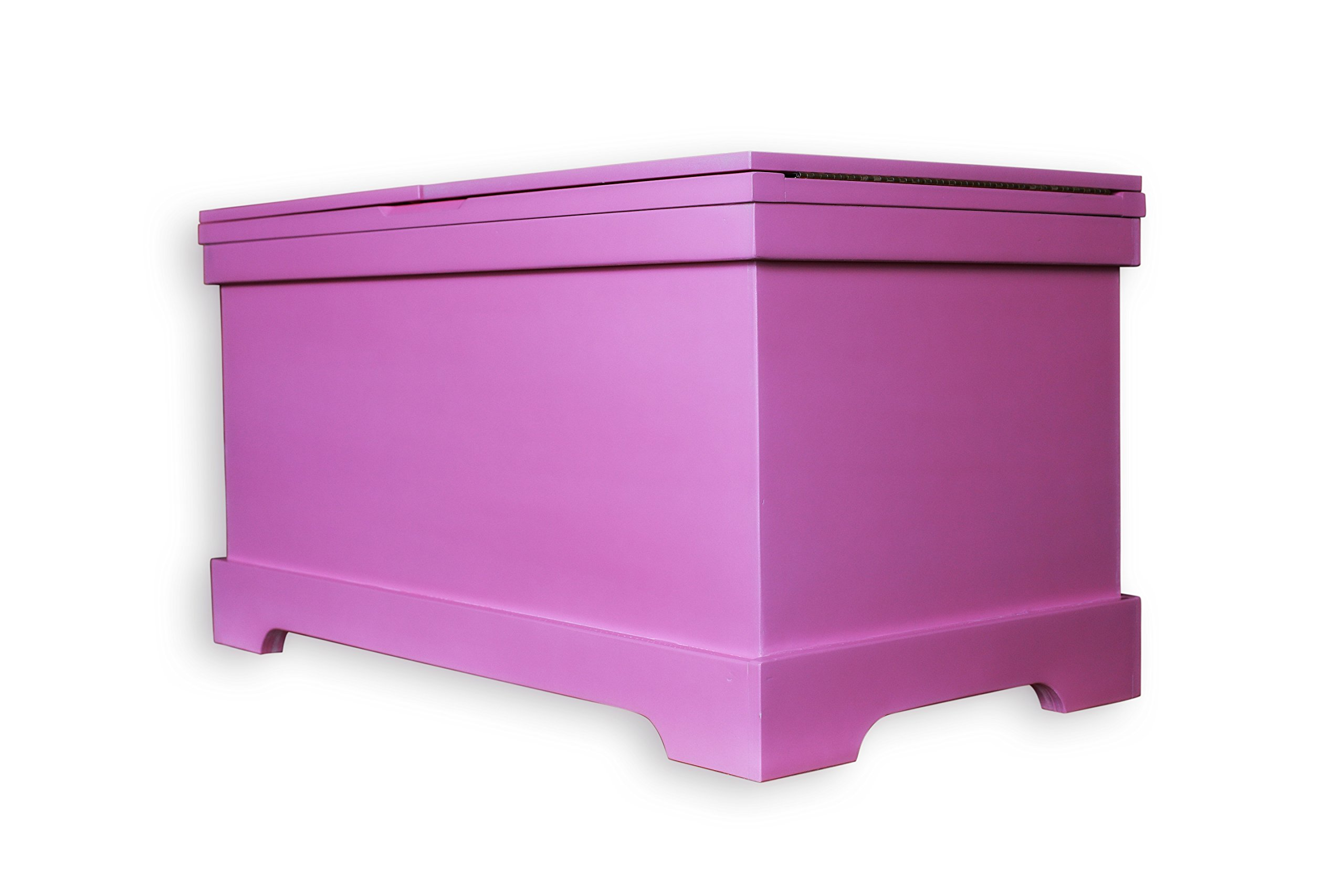 FireSkape The Baylee Window Seat Toy Box with Built in Right Hand Oriented Safety Ladder Compartment in Princess Pink