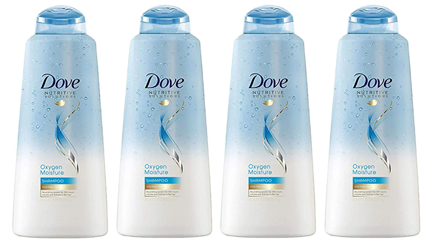 Dove Oxygen Moisture Shampoo, 20.4 Ounce, Pack of 4