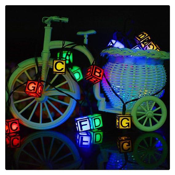 Amazon.com: Caja de luz LED solar para letras, con cadena de ...