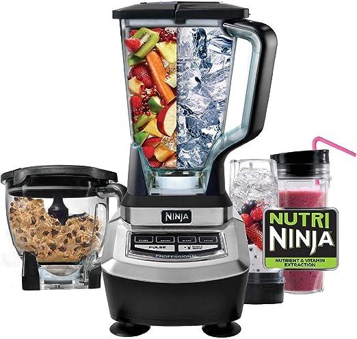 Ninja BL780 Supra 1200 Watt Food Processor and Kitchen Blender System (Renewed)
