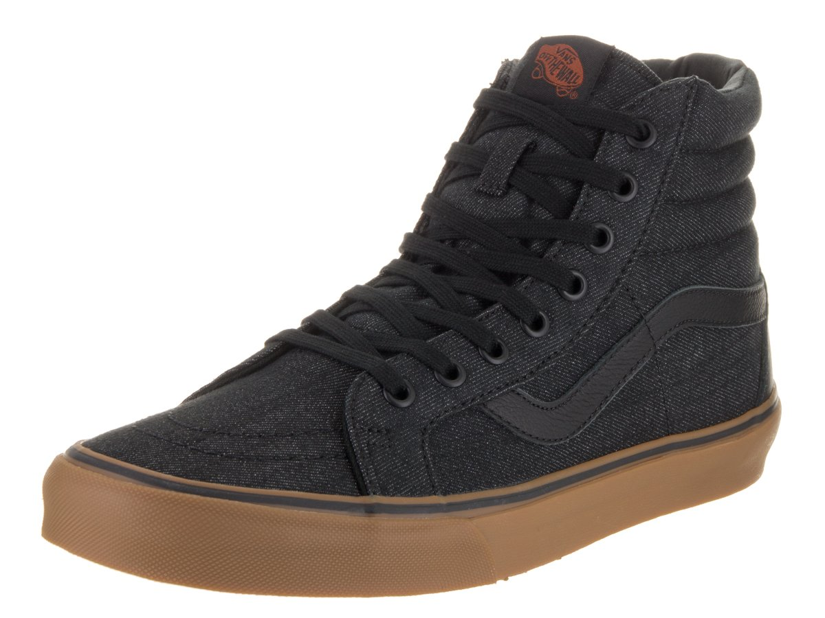 VANS MENS SK8 HI REISSUE LEATHER SHOES B01DYO4A68 13 B(M) US Women / 11.5 D(M) US Men|Black Gum