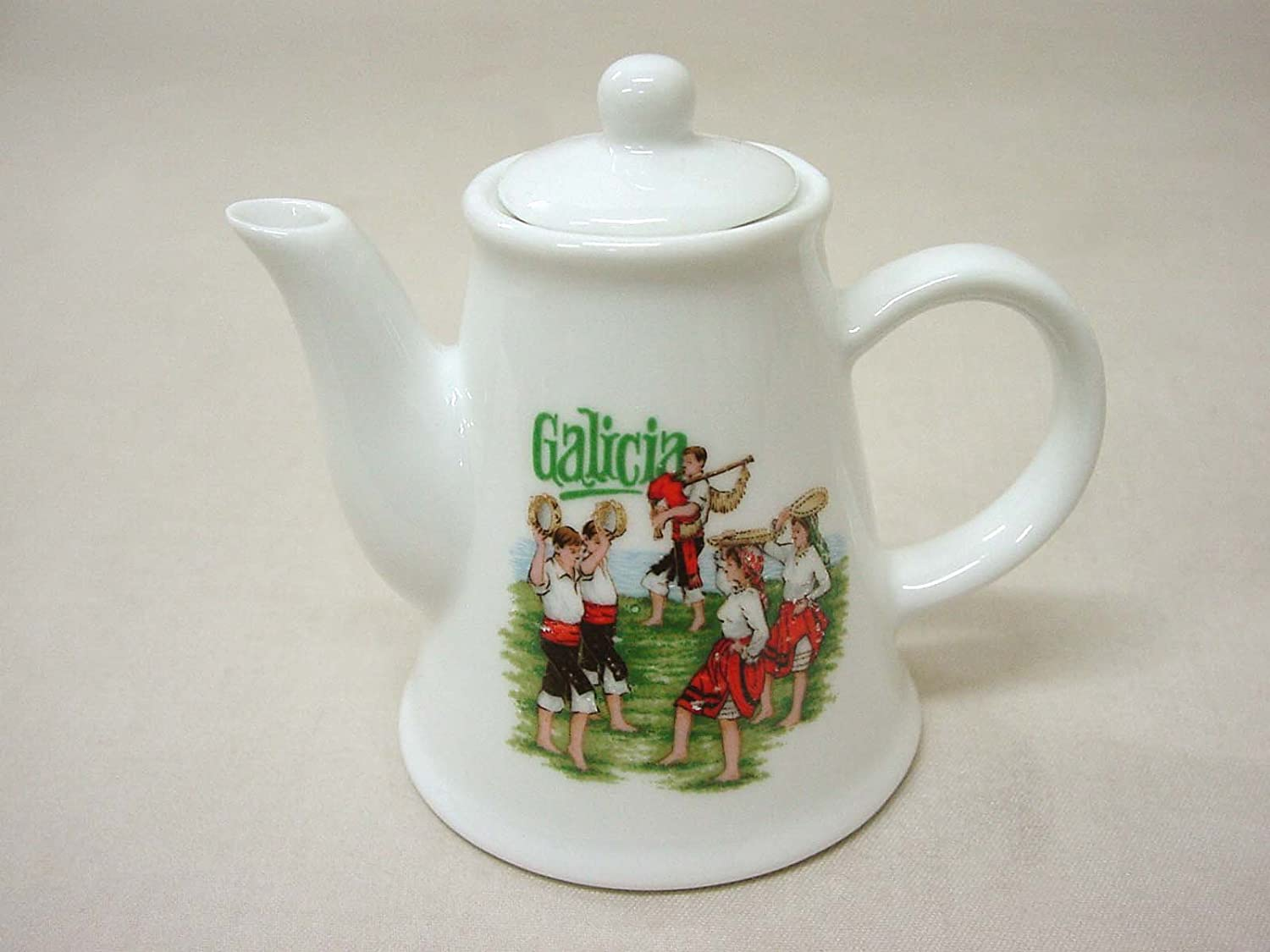 Figura Mini CAFETERA Porcelana Souvenir Galicia 110ML: Amazon.es ...
