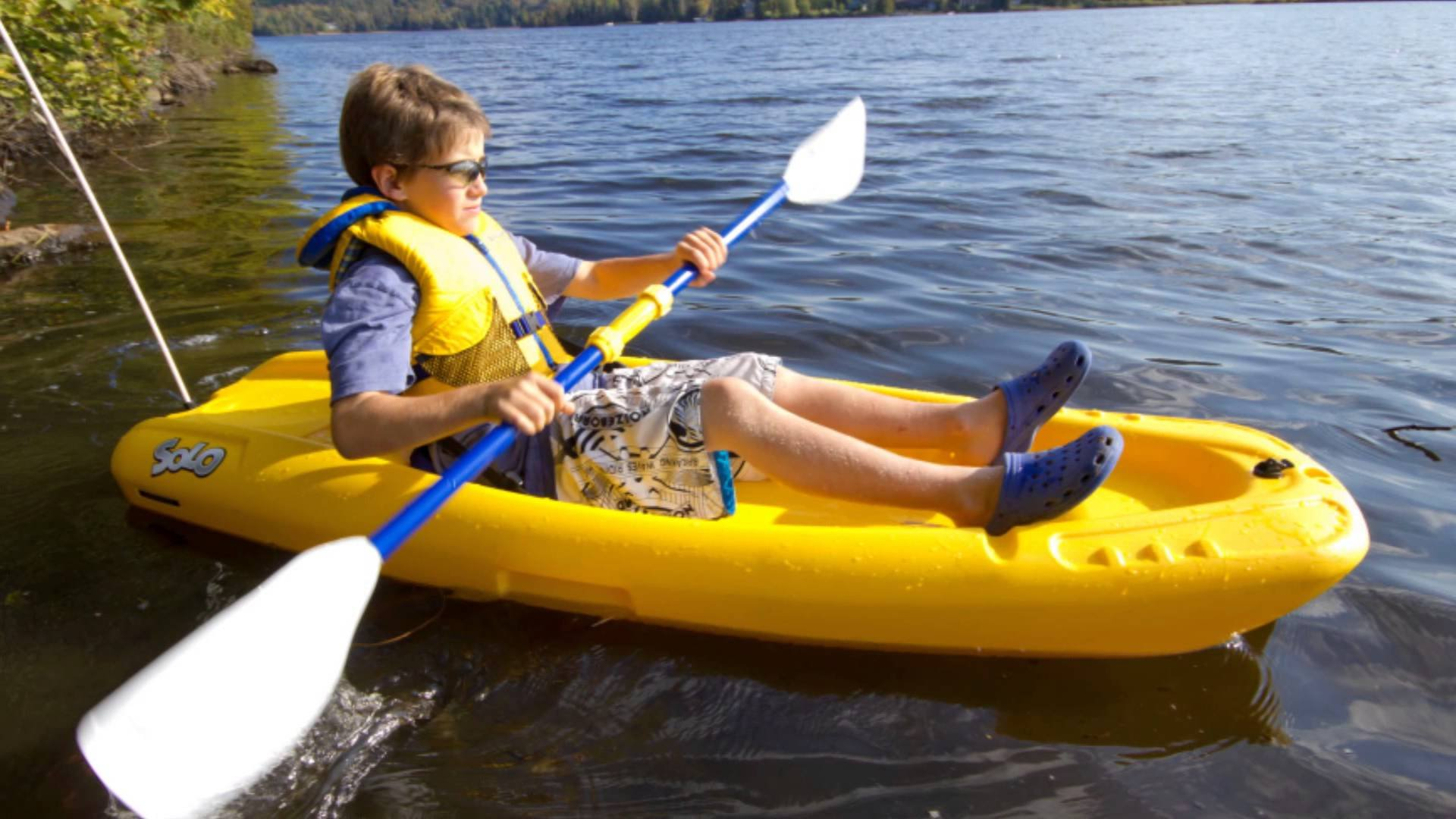 Pelican Solo Sit-On Kayak, 6-ft, Yellow by Pelican