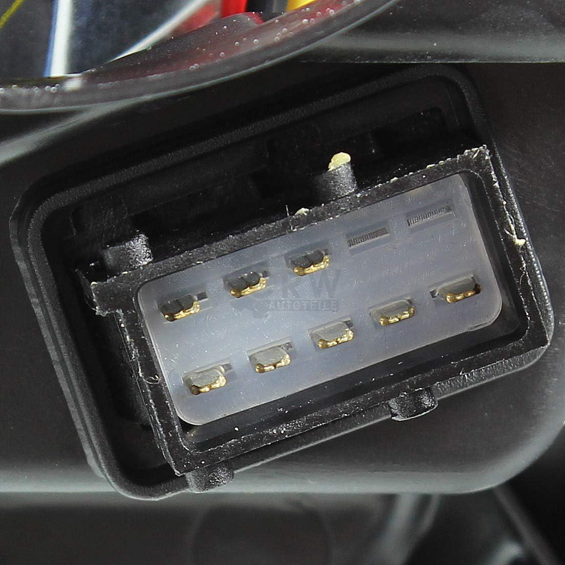 Lot de 2 phares halog/ènes pour ASTRA H de 03//04-12//09 H7//H1 avec moteur
