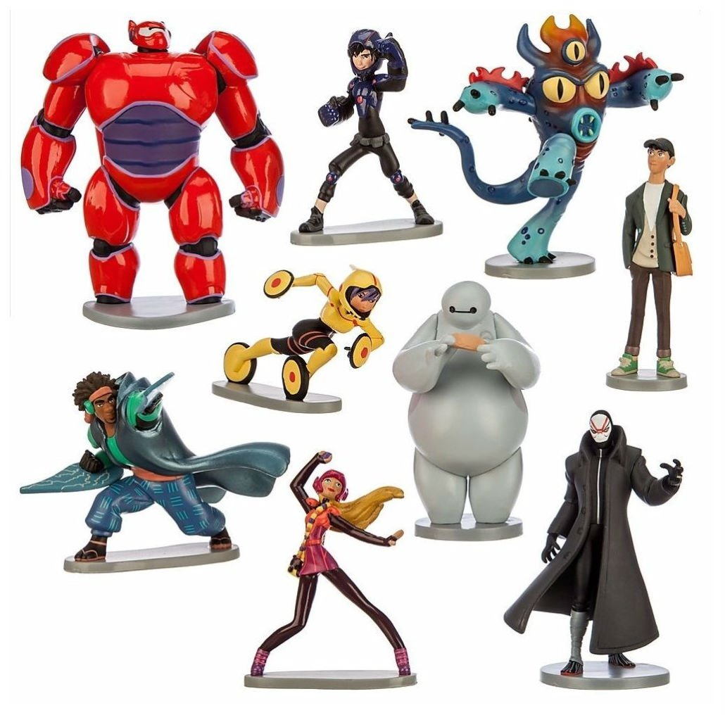 Big Hero 6 Hiro Playset 9 Figure Cake Topper Toy Doll Set Birthday Party Baby Shower by Unbranded