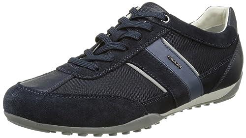 Geox U Wells a, Zapatillas para Hombre, Azul, 46 EU