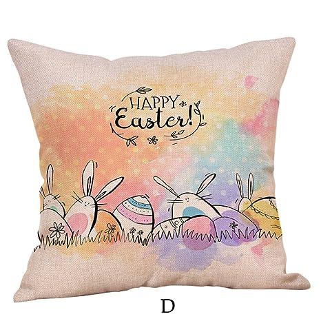 VRTUR Fundas de Almohada Happy Easter Funda de Cojín para ...