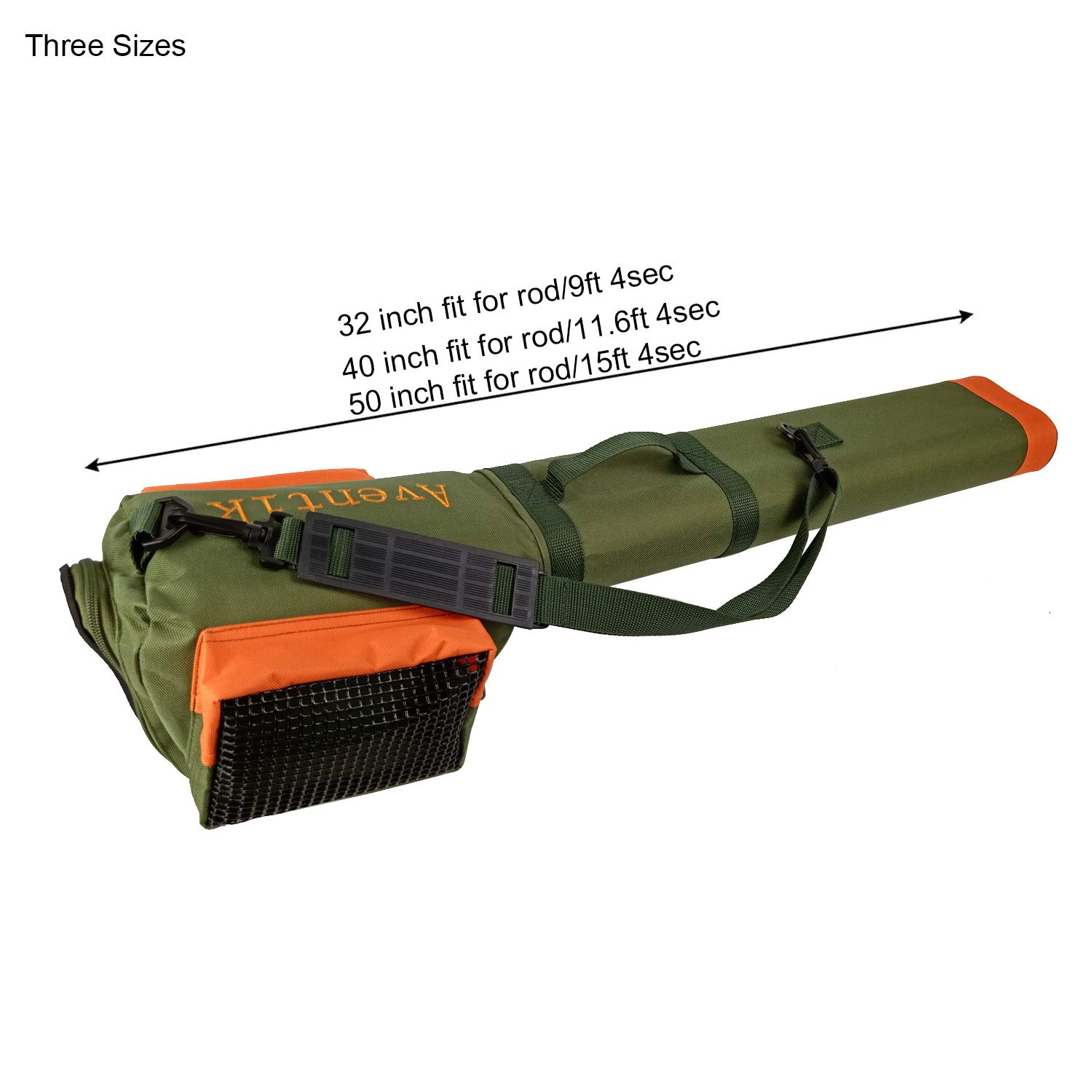 Aventik Double Cordura Rod Tube with Reel Bag (32inch)