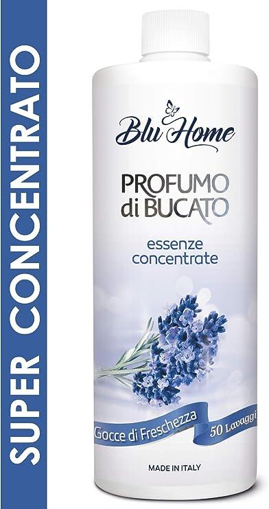 Blu Home Essenza Profuma Bucato, Profumo per Bucato, Essenza Bucato a Lunga Durata, Super Concentrato per Lavatrice (Gocce di Freschezza, 500 ml)