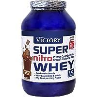 Victory Super Nitro Whey Chocolate-Praliné (1 kg). Concentrado y aislado de suero. fuente proteica rica en BCAAs…