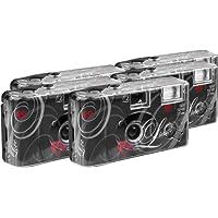 TopShot - Fotocamera usa e getta da 27 foto, confezione da 5, colore: Nero